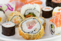 Sushi on plate Royalty Free Stock Photos