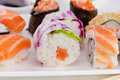 Sushi on the plate Royalty Free Stock Photos