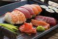 Sushi Plate Royalty Free Stock Photos