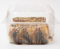 Sushi roll canada in plastic box Stock Image