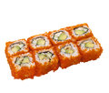 Sushi roll with caviar Royalty Free Stock Photo