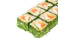 Sushi roll with greens Stock Image