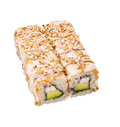 Sushi roll isolated on white Stock Photos