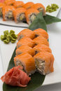 Sushi roll philadelphia of japan tradition Stock Photos