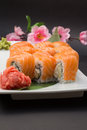 Sushi roll philadelphia of japan tradition Royalty Free Stock Photo
