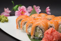 Sushi roll philadelphia of japan tradition Stock Photography