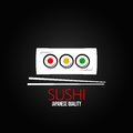 Sushi roll plate menu design background Royalty Free Stock Photo