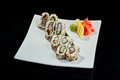 Sushi roll with scallop Royalty Free Stock Photo