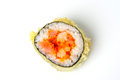 Sushi roll with tempura tuna and salmon Royalty Free Stock Photo