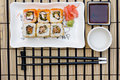 Sushi (rolls) on a plate Stock Photos