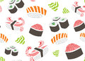 Sushi Seamless Pattern Royalty Free Stock Photo