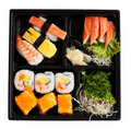 Sushi set in box Royalty Free Stock Photo