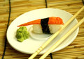 Sushi  set  in dish Royalty Free Stock Photo