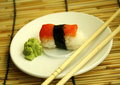 Sushi  set  in dish Royalty Free Stock Photos