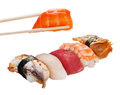 Sushi set over white Royalty Free Stock Photography