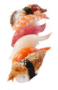 Sushi set over white Royalty Free Stock Photo