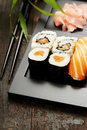 Sushi set served on a plate Royalty Free Stock Photos