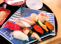 Sushi set traditional japanese food Royalty Free Stock Image