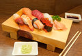 Sushi set traditional japanese food Stock Image