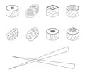 Sushi set vector illustration this is file of eps format Stock Image