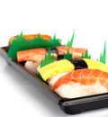 Sushi set on white background Royalty Free Stock Photo