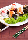 Sushi and soy sauce Royalty Free Stock Photos