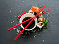 Sushi with soy Royalty Free Stock Photo