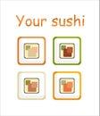 Sushi stylized