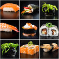 Sushi on the table Royalty Free Stock Photo