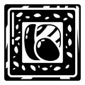 Sushi traditional icon, simple black style Royalty Free Stock Photo