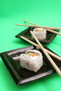 Sushi for two upclose Royalty Free Stock Images