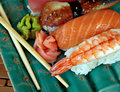 Sushi of Various Varieties Royalty Free Stock Image