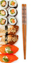 Sushi on a white background Stock Images
