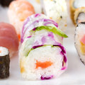 Sushi white plate Stock Photos