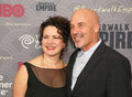 Susie essman and jim harder comedian actress husband arrive on the red carpet for the new york city premiere of the th season of Royalty Free Stock Photos