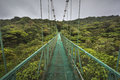 Suspended bridge in Costa Rica