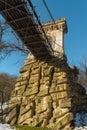 Suspended bridge from nicolae romanescu park craiova romania Stock Images