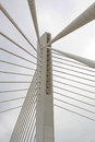 Suspended bridge pillar Royalty Free Stock Photos