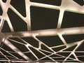 A suspended futuristic ceiling with modern lighting Royalty Free Stock Photo