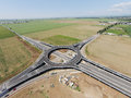 Suspended roundabout,  aerial view Royalty Free Stock Photo