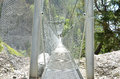 Suspension bridge Royalty Free Stock Images