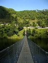 Suspension Bridge Royalty Free Stock Photo