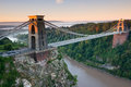 Suspension bridge clifton bristol uk Royalty Free Stock Image