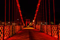 Suspension bridge glasgow scotland uk south portland street at night river clyde Stock Photos