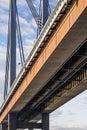 New Suspension Railway Bridge - Modular Box Girder Framework Detail – Belgrade - Serbia Royalty Free Stock Photo
