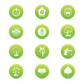 Sustainability icons abstract on a white background Royalty Free Stock Image