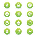 Sustainability icons abstract on a white background Royalty Free Stock Photography