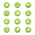 Sustainability icons abstract on a white background Royalty Free Stock Images