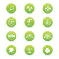 Sustainability icons abstract on a white background Stock Photo