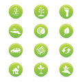 Sustainability icons abstract on a white background Stock Images